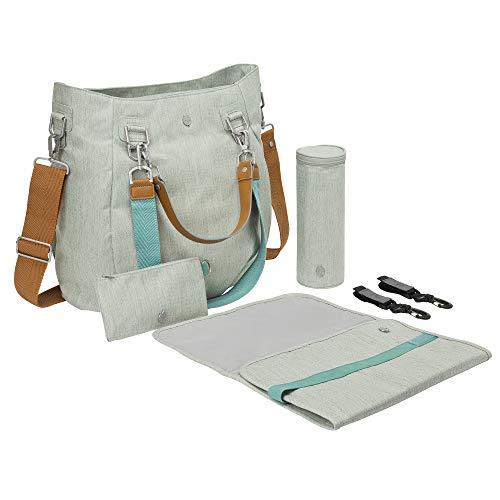 Lässig Wickeltasche Green Label Mix\'n Match Bag mit mehreren verstellbaren Schultergurten inkl. Wickelzubehör, light grey