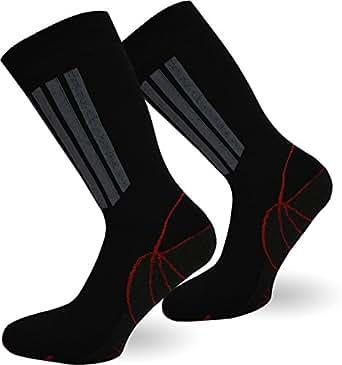 2 Paar X-Static Socken mit Silberfäden und Coolmax - gegen Fußgeruch (Sport & Funktion) Größe 35/38