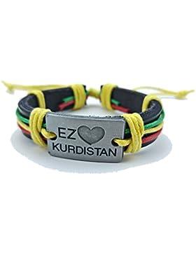 Zozan I love Kurdistan Armband (rot gelb grün)