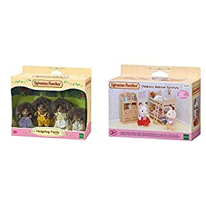SYLVANIAN FAMILIES Hedgehog Family Mini muñecas y Accesorios,, 20.1 x 15.0 x 5.6 (Epoch para Imaginar 4018) + Children