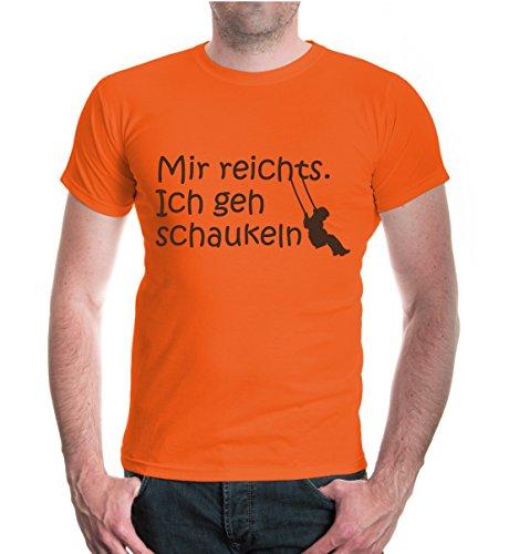 buXsbaum® T-Shirt Mir reichts. Ich geh schaukeln Orange-Brown