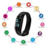 SBA999 Advanced Upgraded Smart Fitness/Activity Tracker, Heart Rate Body Functions Steps/Calorie Counter, Live