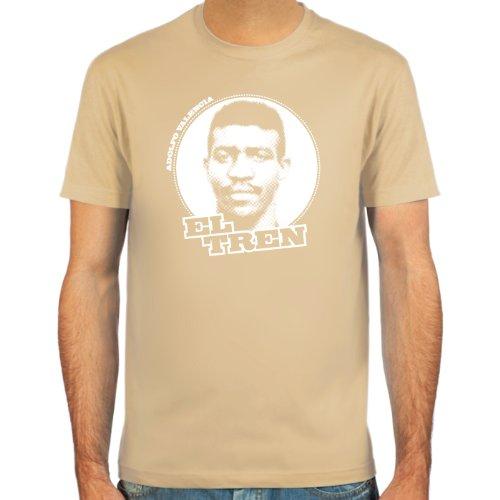 """SpielRaum T-Shirt Adolfo \""""el Tren\"""" Valencia ::: Farbauswahl: skyblue, sand, deepred, schwarz, oliv oder navy ::: Größen: S-XXL ::: Fußball-Kult"""