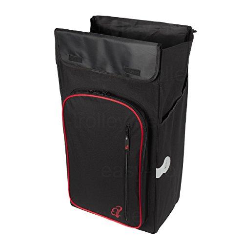 XXL Einkaufstrolley, 3 Jahre Garantie, extra große Reifen, inkl. abnehmbarer Tasche mit Kühlfach -