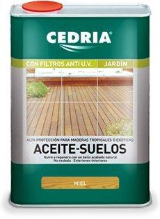 Aceite Suelos Madera Cedria Incoloro Miel 4 litros