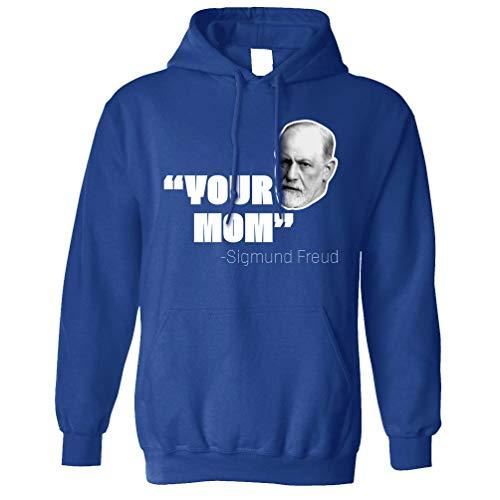 Sigmund Freud Kapuzenpullover Ihre Mutter Historical Witz Royal Blue X-Small -