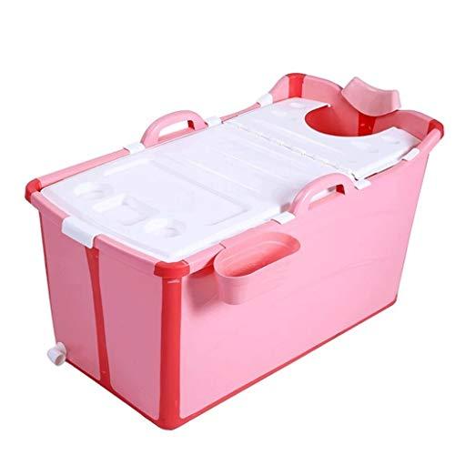 Preisvergleich Produktbild DGF Tragbare faltbare Kinderbadewanne Swimmingpool Große freistehende Eckbadewanne Erwachsene Badewanne / lange Isolationszeit mit Deckel (pink)