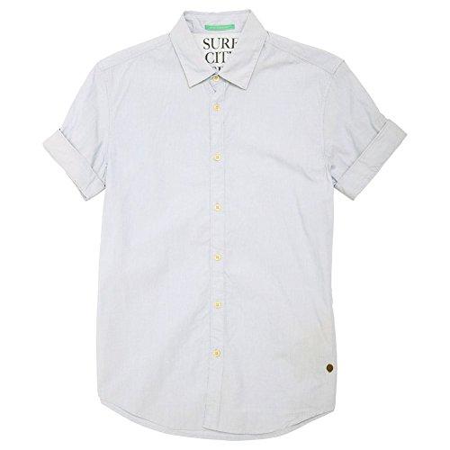 Scotch & Soda Contrast Collar Shirt, Blue Pinstripe Blue