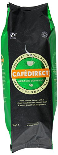 Cafédirect Fairtrade Organic Whole Bean Espresso 1kg 415PbfCRxeL