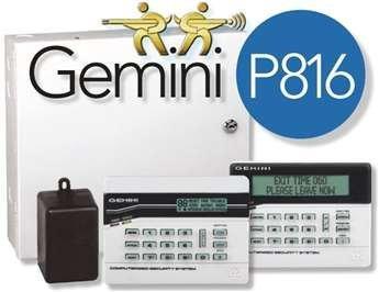 Napco Gemini P816 Security Panel, 8-16 Zones (GEM-P816) by Napco Security Gemini Security Panel