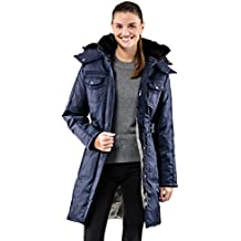 Vincenzo Boretti chaquetón Invierno de Mujer, Acolchado Caliente para temperaturas bajo Cero, Ribete de