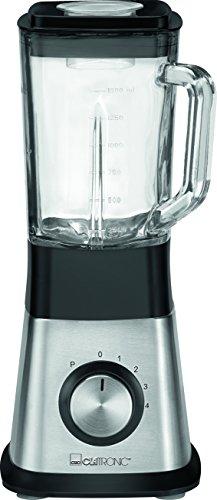 Clatronic UM 3644 Edelstahl-Standmixer mit Ice-Crush-Funktion und 4-fach Edelstahlmesser, 1,5 Liter Glasbehälter , 650 W