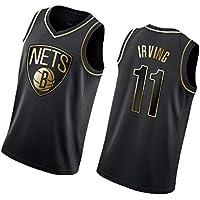 DGSFES # 11 Irving Jerseys Jerseys-Nets de Baloncesto para Hombre Camisa Swingman de Malla Bordada Ropa deportiva-1-XXL