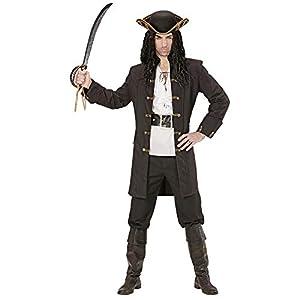 Widmann - Disfraz adulto pirata ladrón, Negro, XL