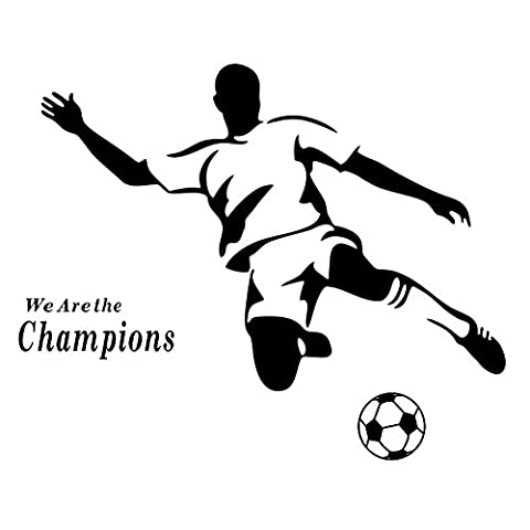 Winhappyhome Champions De Football De Sport Bricolage Stickers Muraux Pour Salon Chambre Backdrop Amovibles Home Decor Stickers