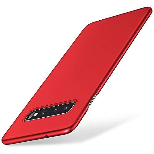 EIISSION Handyhülle Kompatibel mit Samsung Galaxy S10 Hülle, Hardcase Ultra Dünn Samsung Galaxy S10 Schutzhülle aus Hart-PC Case Cover Handyhülle für Samsung Galaxy S10 - Rot Rot Hard Case