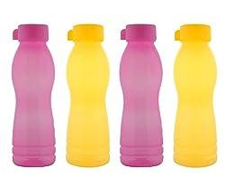 Aarushi Polypropylene Water Bottle Pack of 4 (500 ml each)