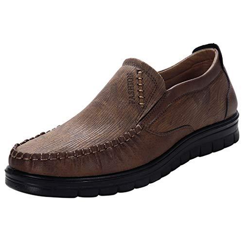 Yearnly Herren Mokassins | Klassischer Halbschuh | Echtleder Loafers | Herren Slipper | Komfort Fahren Halbschuhe