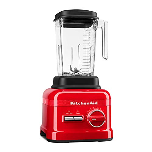 KitchenAid 5KSB6060H - Licuadora 2,6 L, Botones, palanca, 1,65 L, Batidora de vaso, Negro, Rojo, China...
