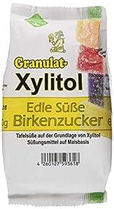 Eurovera Xylitol Birkenzucker Granulat, Nachfüllpack, 3er Pack (3 x 500 g)