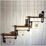 American retro nostalgischen Stil machen alten industriellen Sanitär neues Design Eisen Bücherregal Regal Regal, Display schwarz