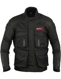 Gearx Hombre Protección Motocicleta Chaqueta Impermeable - XL