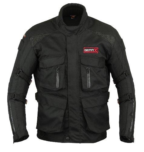 Gearx Herren Motorrad Schutz Jacke Wasserfest - XL