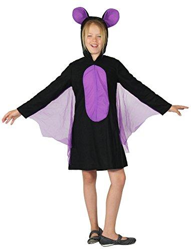 Foxxeo 40342 | Fledermaus Kostüm für Mädchen Fledermauskostüm -