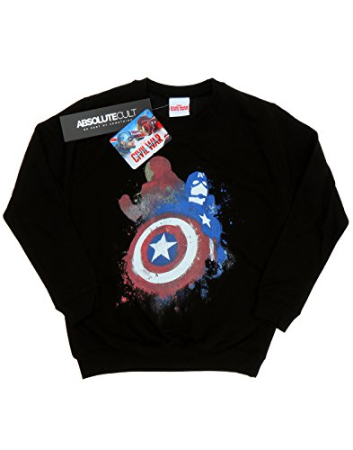 Marvel Femme Captain America Civil War Painted vs Iron Man Sweat-Shirt Noir