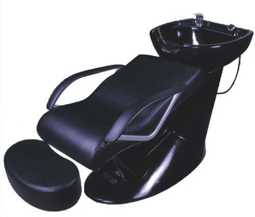 FIGARO Rückwärtswaschanlage GAETA (Sockel: schwarz, Sitz: schwarz, Becken: schwarz)