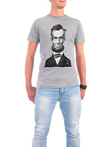 """Design T-Shirt Männer Continental Cotton """"Abraham Lincoln"""" - stylisches Shirt Film von Rob Snow Grau"""
