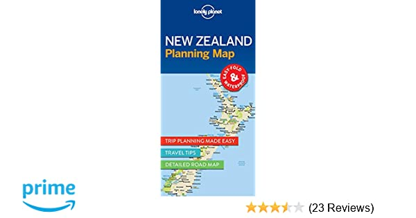 Lonely Planet New Zealand Planning Map: Amazon co uk: Lonely