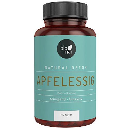 Apfelessig Kapseln - hochdosierte 3-Monatskur natürliches Detox - Premium Produkt Made in Germany - 180 Kapseln