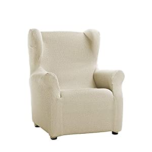 Martina Home Tunez Model Elastic Armchair Cover Wing Chair Cover 33x42x8 cm ivory white