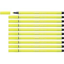 STABILO Pen 68 Pennarello colore Giallo Fluorescente – Confezione da 10