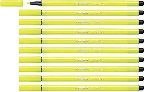 STABILO Pen 68 Pennarello colore Giallo Fluorescente - Confezione da 10