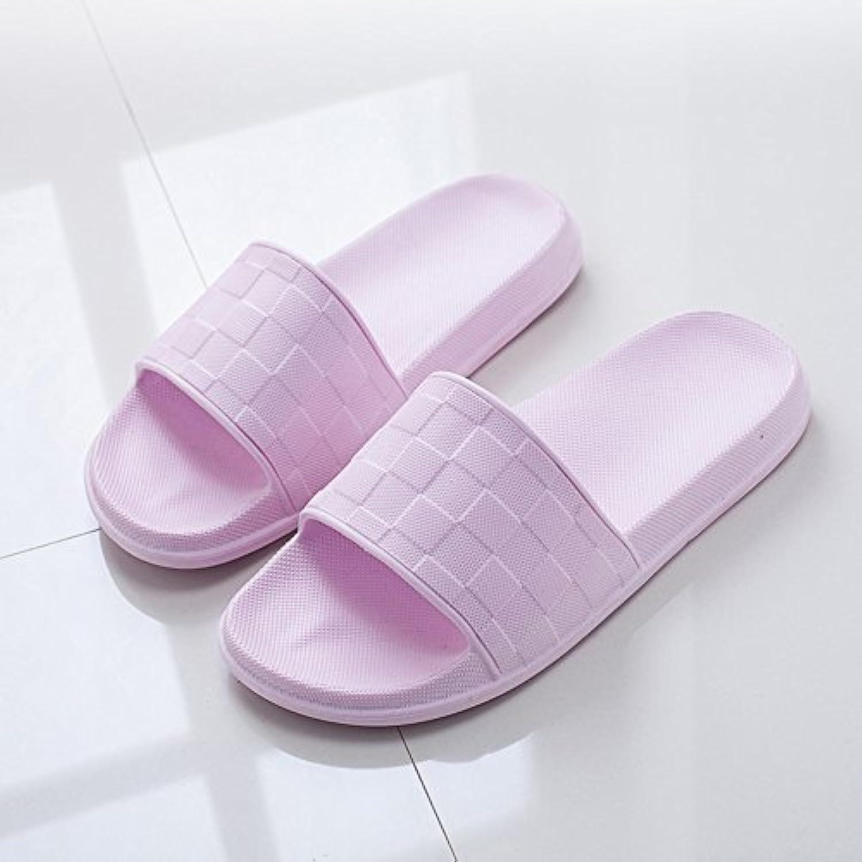 Cómodo Zapatillas antideslizantes cómodas del baño de los deslizadores caseros de la casa del verano de la hembra...