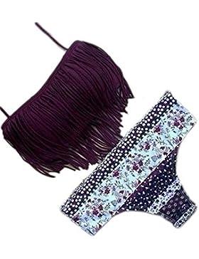 Nappe Top floreale fondo 2 pezzi Holiday Beach Bikini Costumi da bagno donne