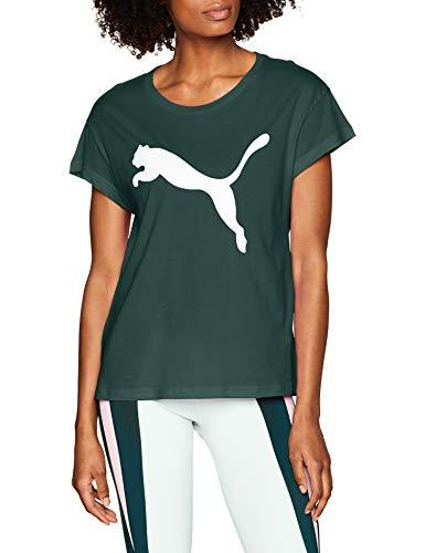 37935b386 Puma Active Logo tee Camiseta, Mujer, Verde (Ponderosa Pine), L