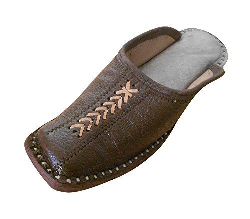 Tradicional de la India de la Kalra Creaciones Hombres Piel Zapato de Fiesta Zapatos, Color Marrón...