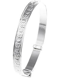 Sterling Silver Expander Bangle Bracelet for Babies - 925 Solid Silver