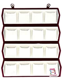atorakushon Velvet 16 Pair Earrings Organizer Jewellery Box for Women and Girls