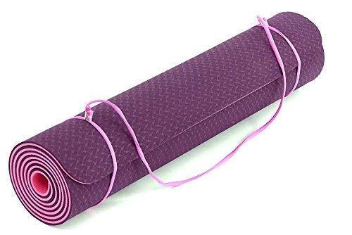 Fitem – Esterilla de gimnasia y yoga de TPE – Eco Natura – Reversible, antideslizante y respetuosa con el medio ambiente – 183 x 61 x 0,6 cm
