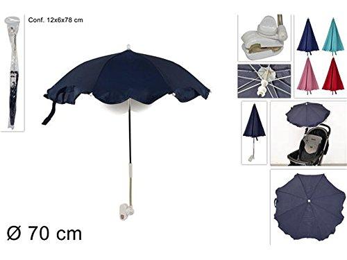 vetrineinrete Ombrellino per passeggino parasole universale ombrello diametro 70 cm vari colori