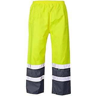 Army And Workwear Exact Colour: Yellow/Navy | Size: XL | Use: HV Road Safety Construction Builders PPE Clothing