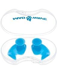 Mad Wave m071201004W Bouchons d'oreille en silicone-Bleu azur, taille unique