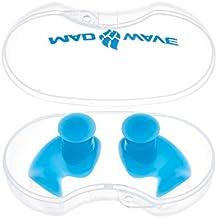 Mad Wave m07120104W Tapones para los oídos de silicona 0–Azure, talla única