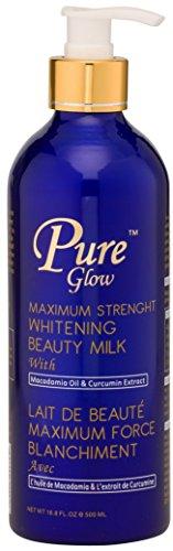 Pure Glow Maximum Strength Whitening Beauty Milk with Macadamia Oil & Curcumin Extract 50ml