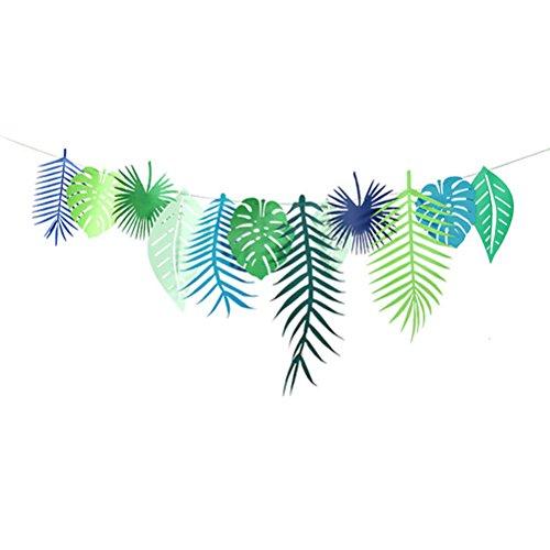 OUNONA Tropischen Banner Ananas Blätter Foto Requisiten Sommer Hawaii Party Dekorationen 3m