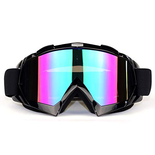 SEBOM Motorrad Brille, Blendschutz Goggle Licht TPU Rahmen Mode Anti Nebel Sportbrille Motocross Goggle